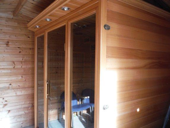 Sauna depuis notre camping d'Ille et Vilaine à Bain de Bretagne