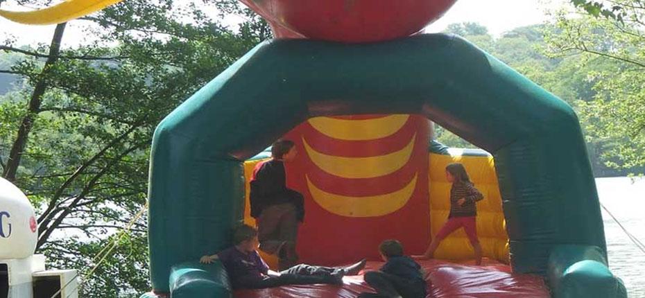 Jeux gonflables du camping en Ille et Vilaine