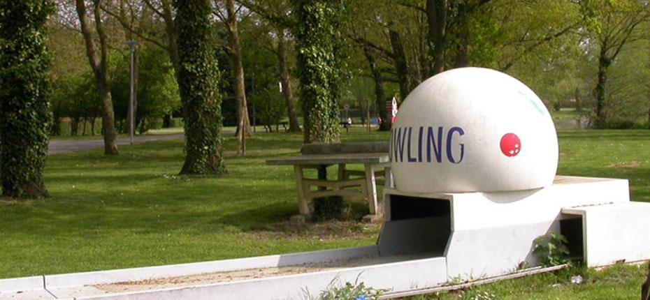 Bowling extérieur du camping du lac à Bain de Bretagne