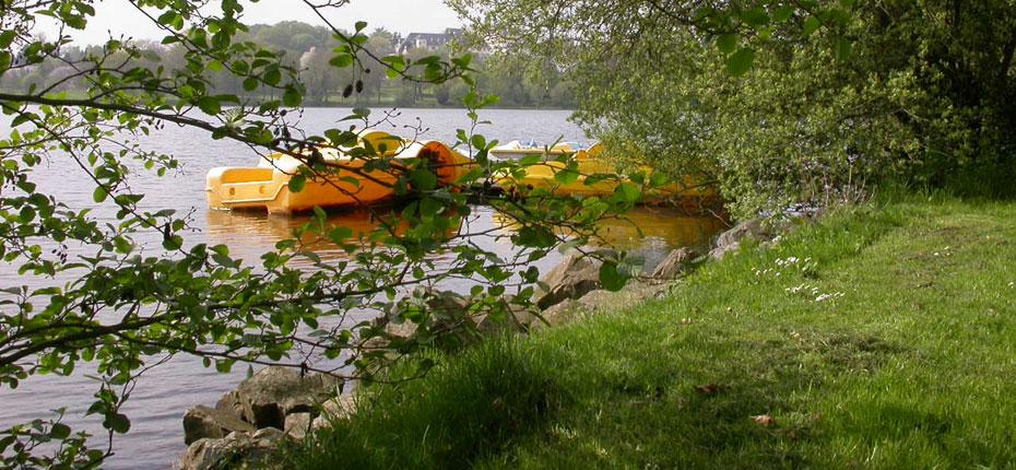 Le camping du Lac à Bain de Bretagne