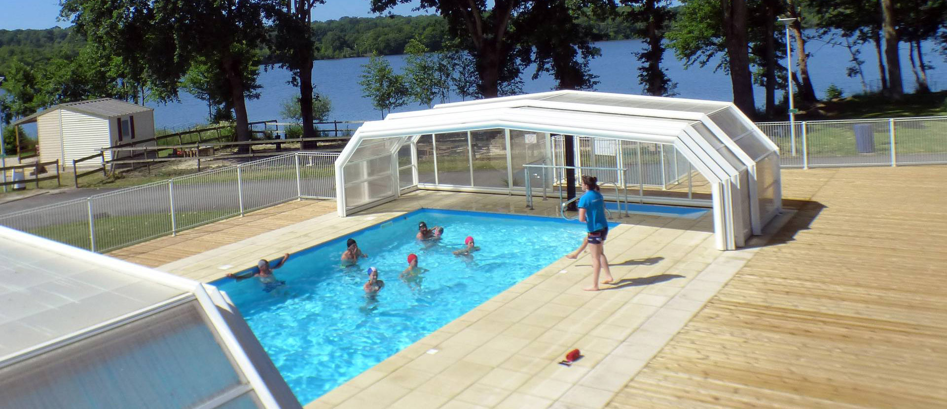 Campsite in Brittany with indoor swimming pool